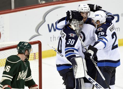 Hellebuyck, Jets blank Wild 1-0 behind Wheeler's goal