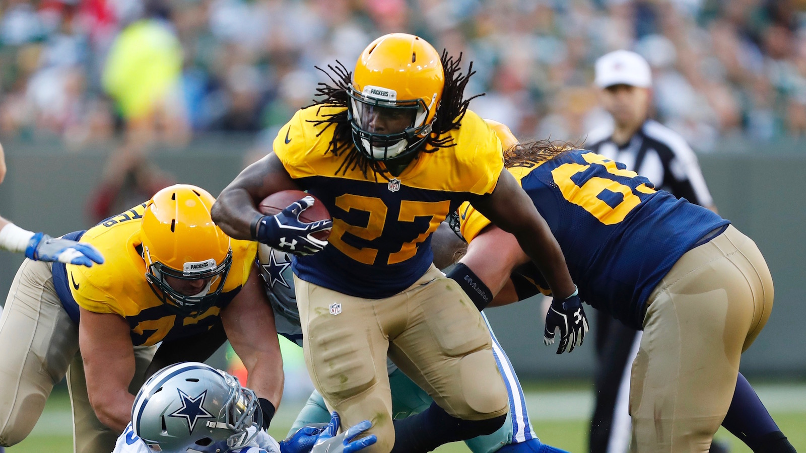 Packers officially rule out Eddie Lacy, top two cornerbacks vs. Bears