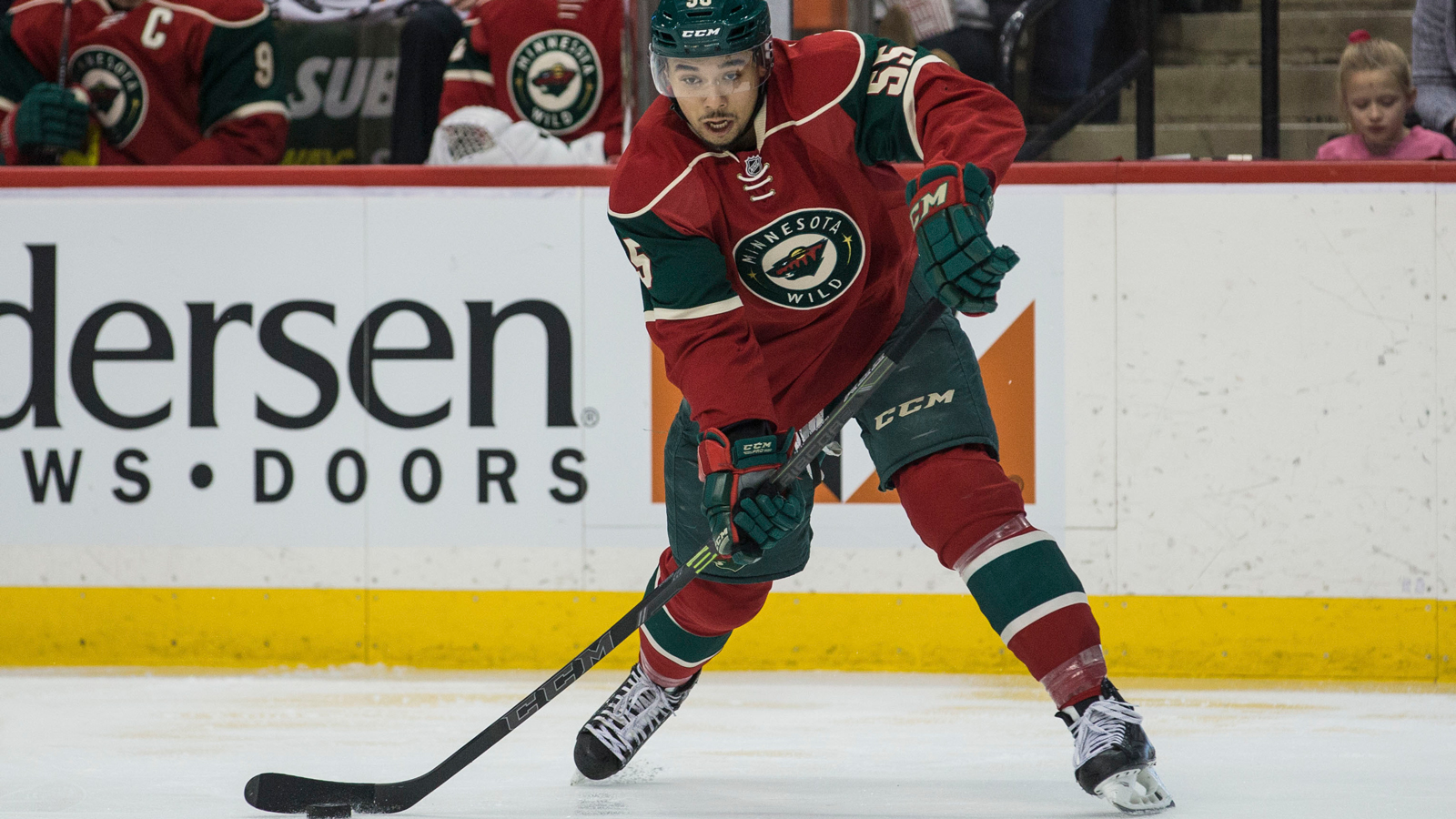 Wild's Dumba asks permission from Len Boogaard for number change
