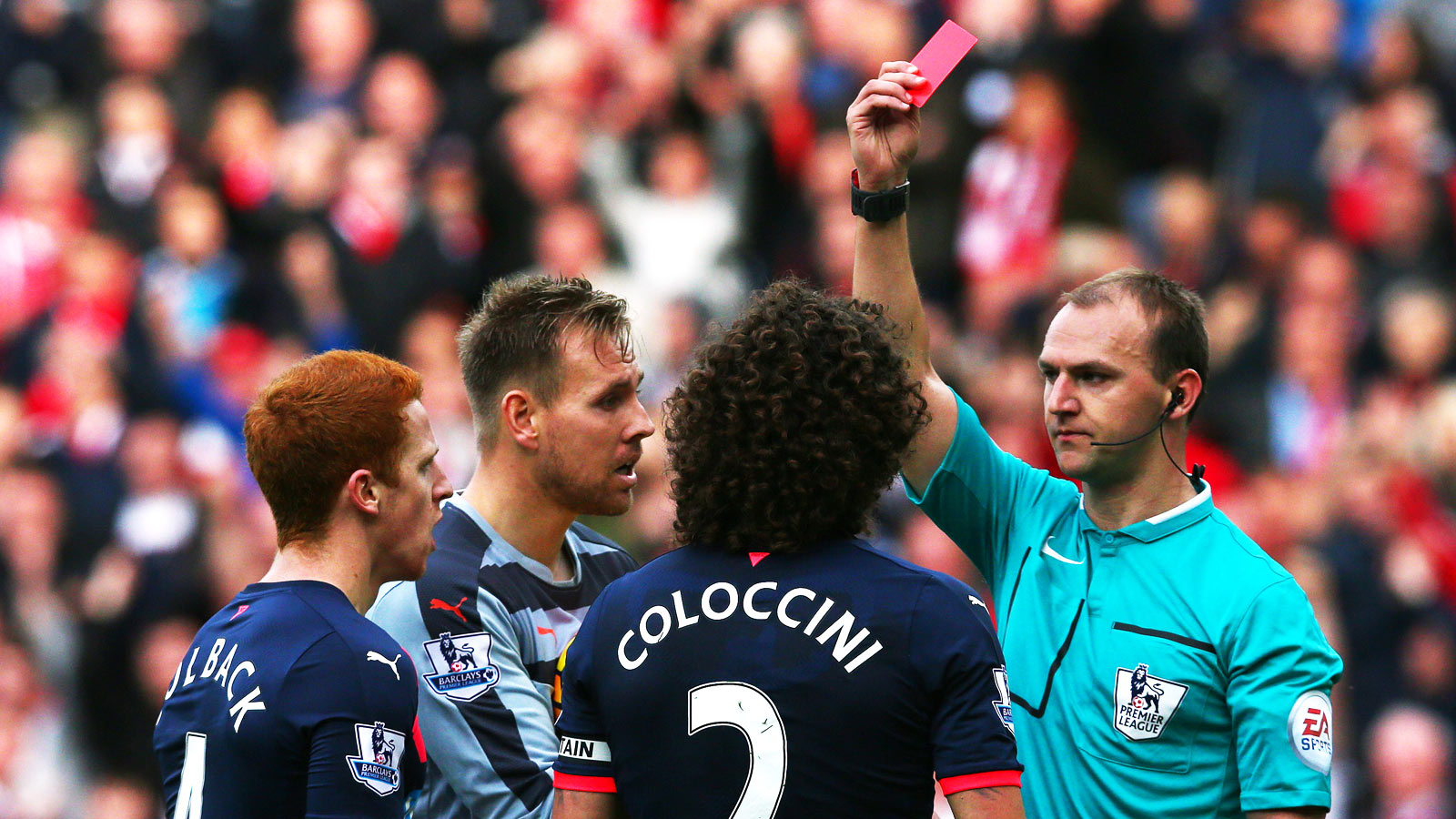 Newcastle appeal Coloccini red card against Sunderland