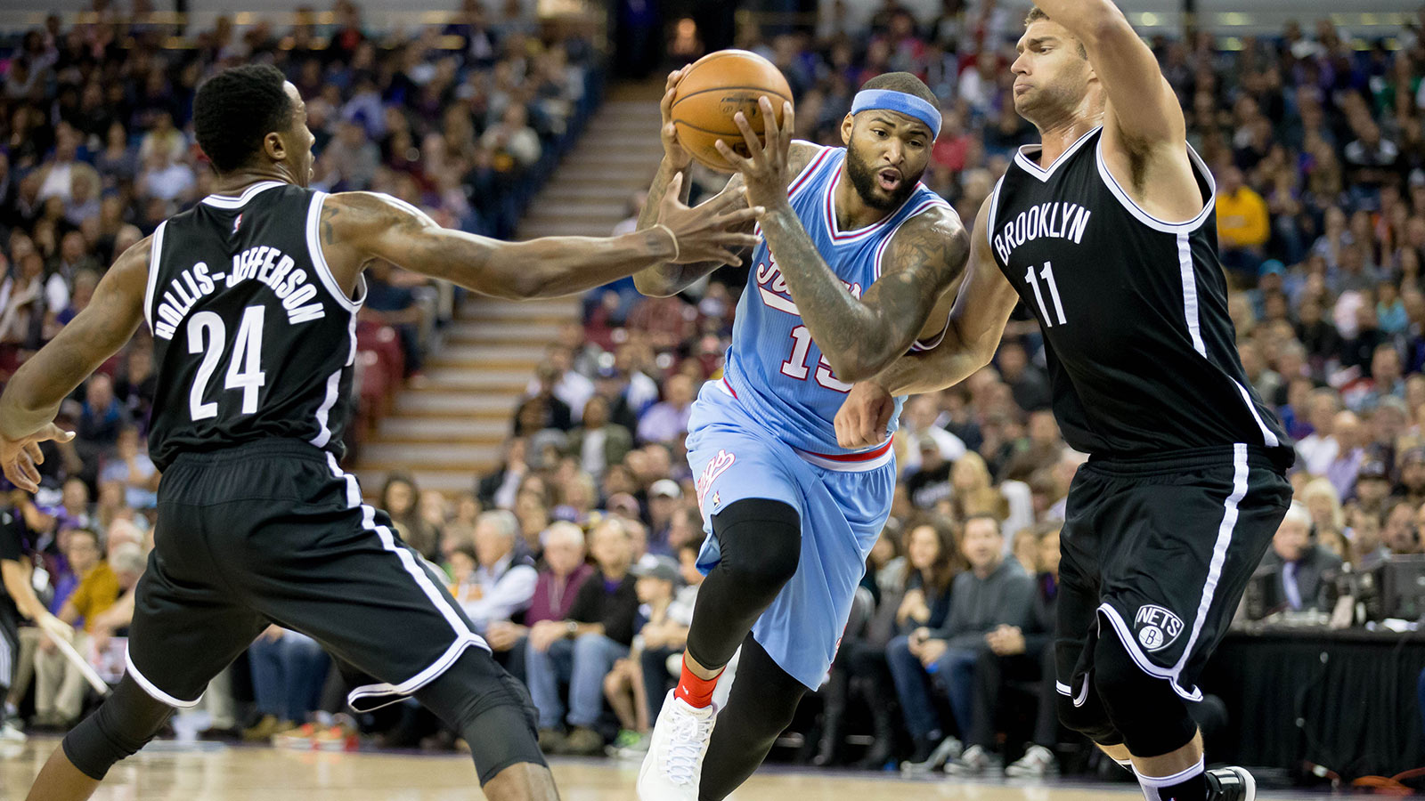Cousins' 40 points, Rondo's triple-double lift Kings