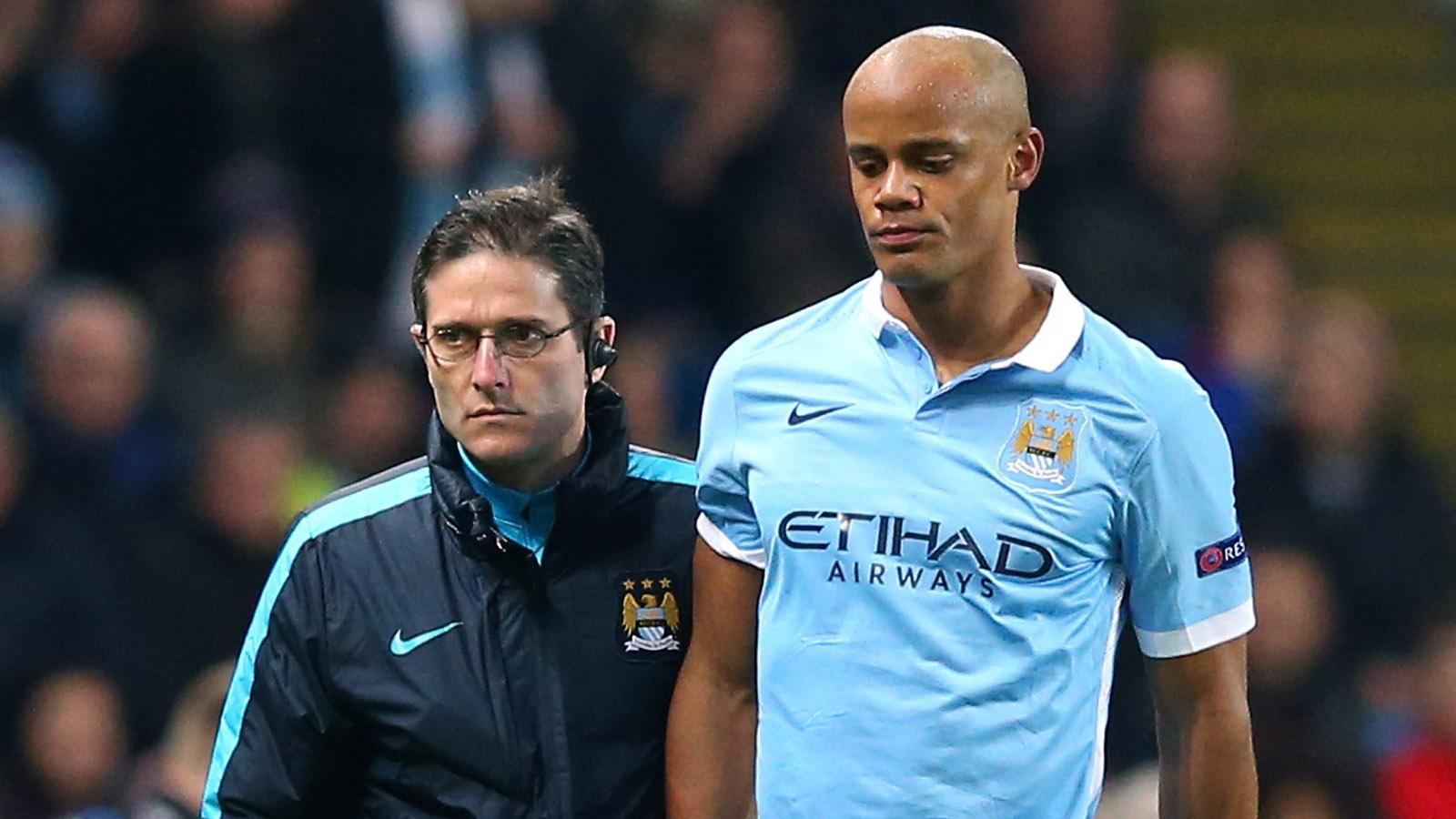 Man City boss Pellegrini in dark over Vincent Kompany injury woes