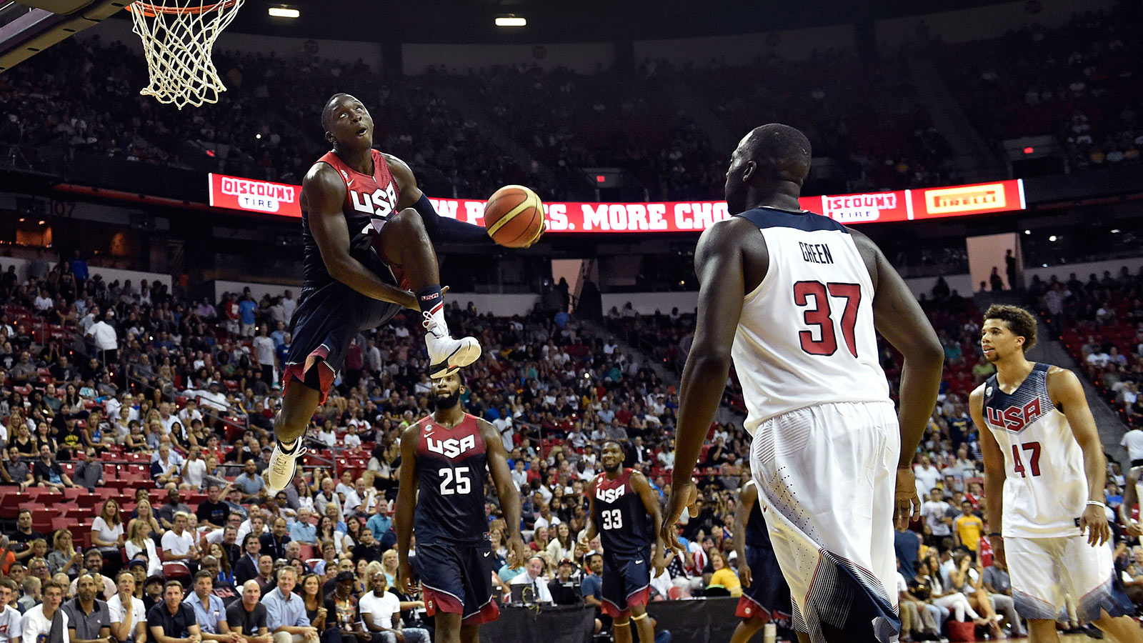 Team USA ends Vegas camp with high-scoring exhibition game