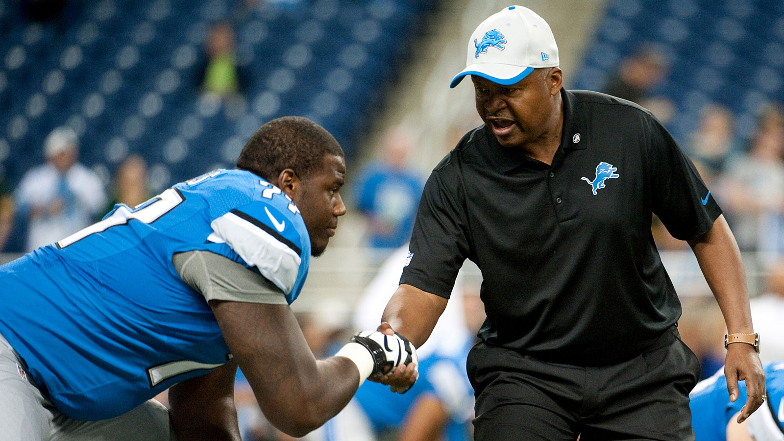 Lions OL Lucas remembers gutting houses after Hurricane Katrina