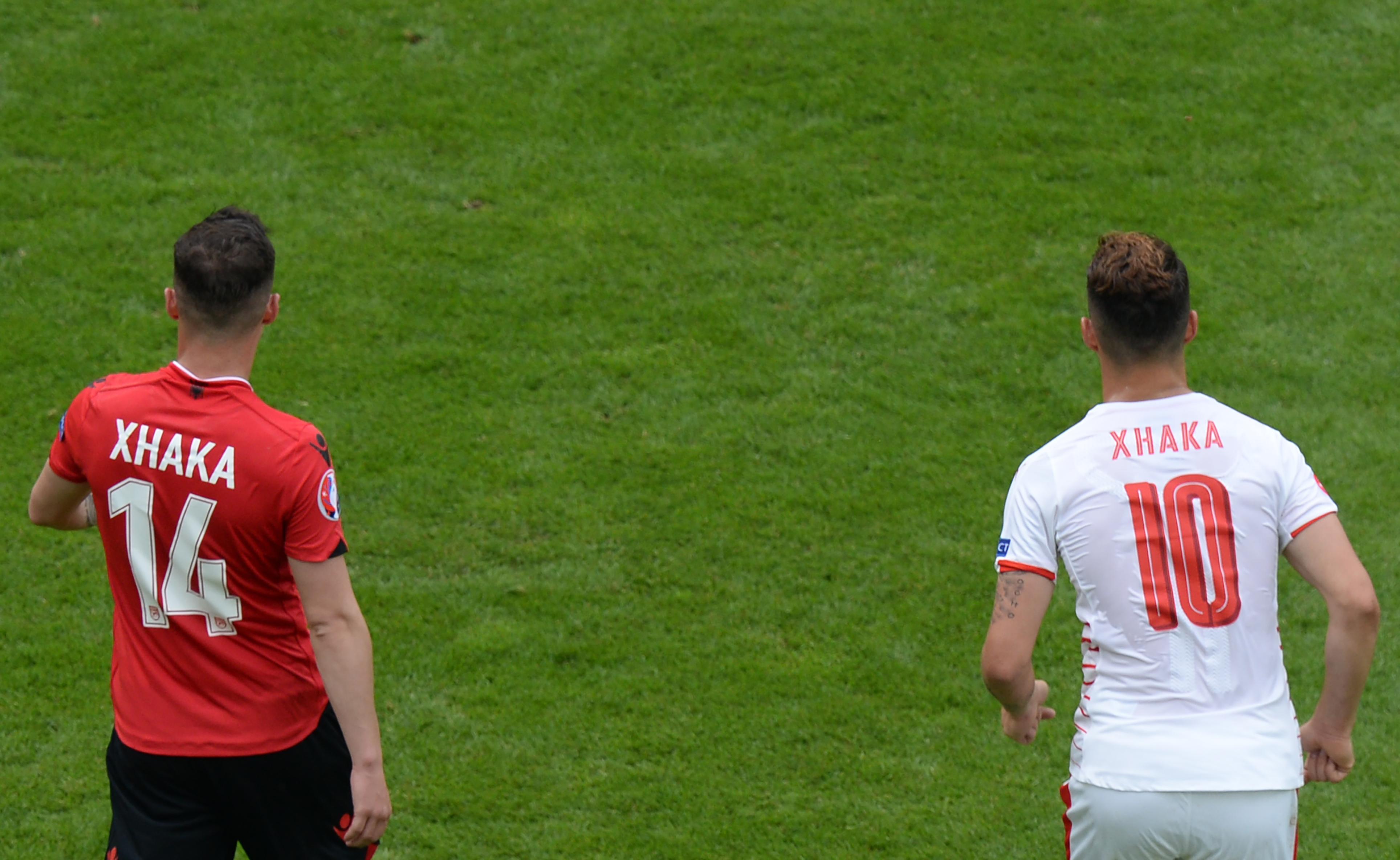 Xhaka brothers square off to make Euro history
