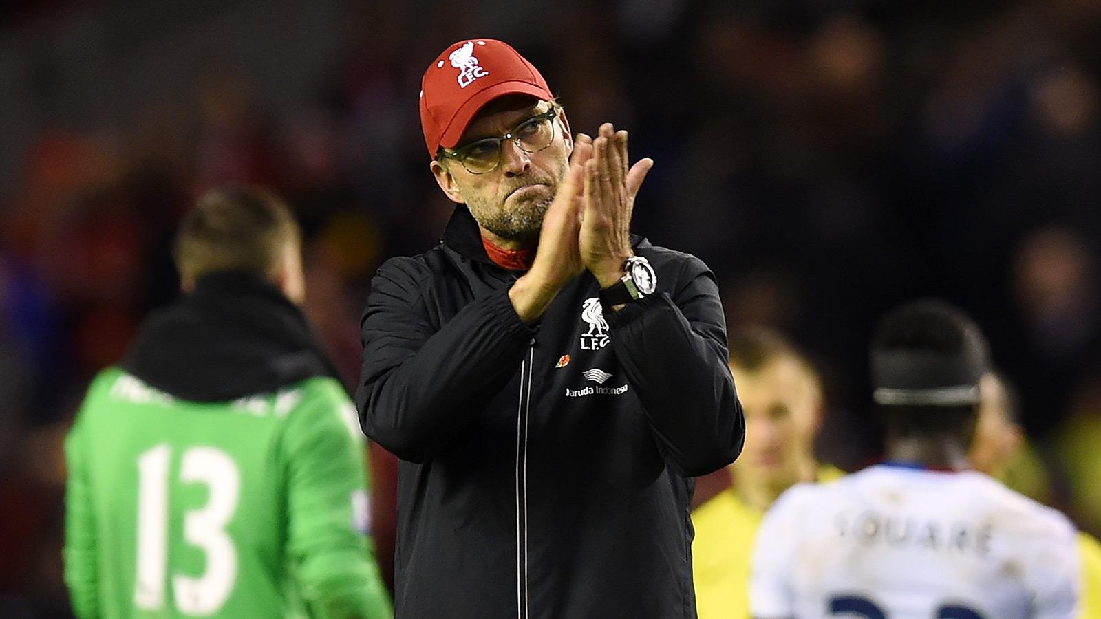 Reds boss Klopp admits he 'felt alone' as fans left Anfield early