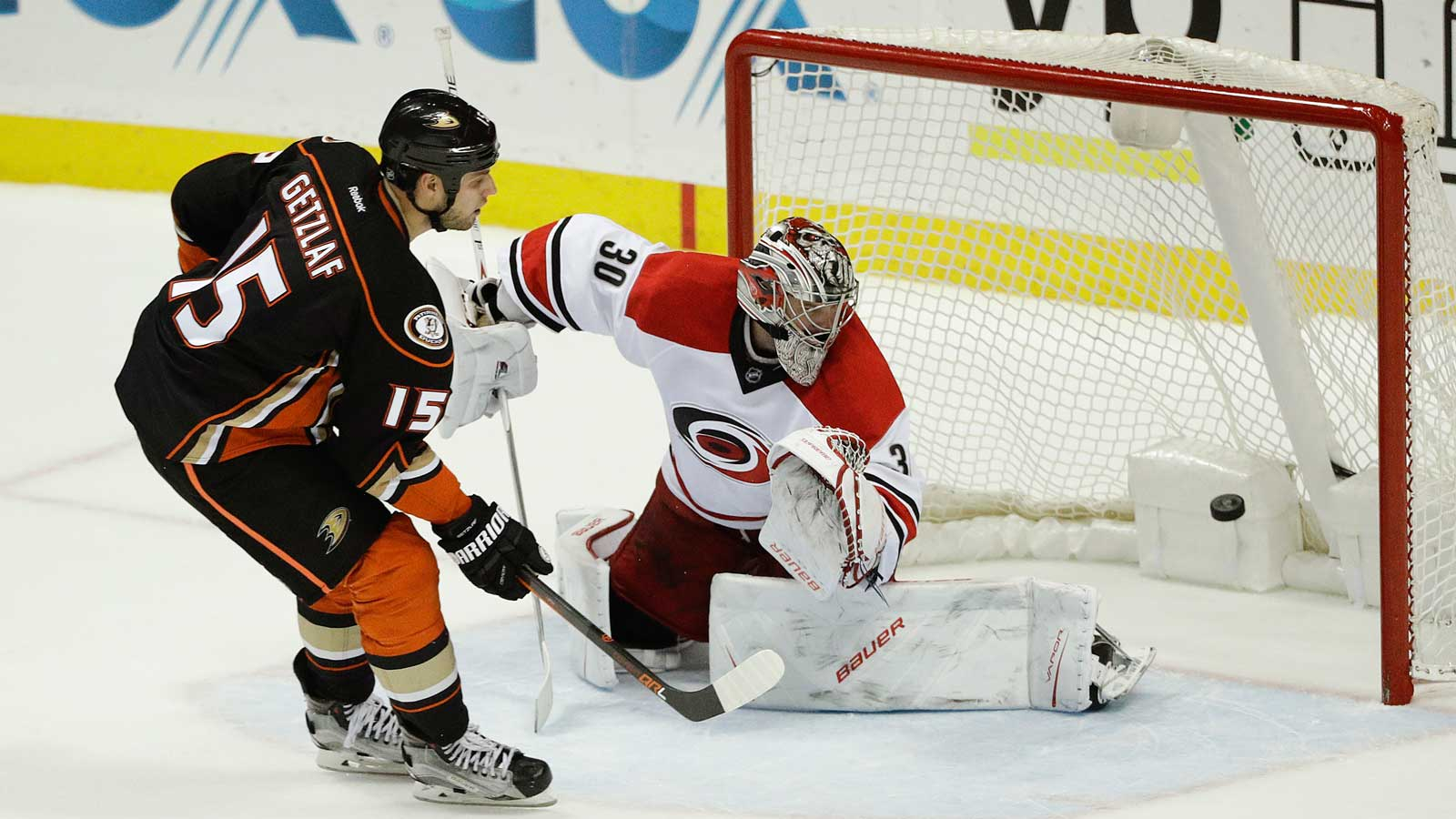 Ducks tie it late, Kase beats Canes in shootout