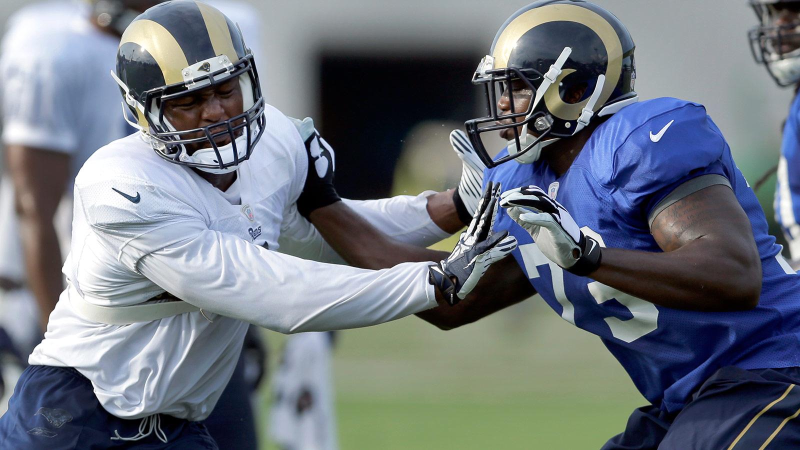 In second season, Rams OT Greg Robinson is an experienced hand