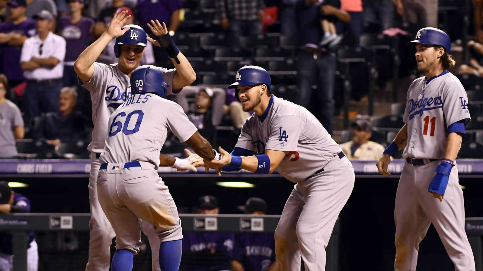 NL West: Dodgers avoid sweep with epic comeback