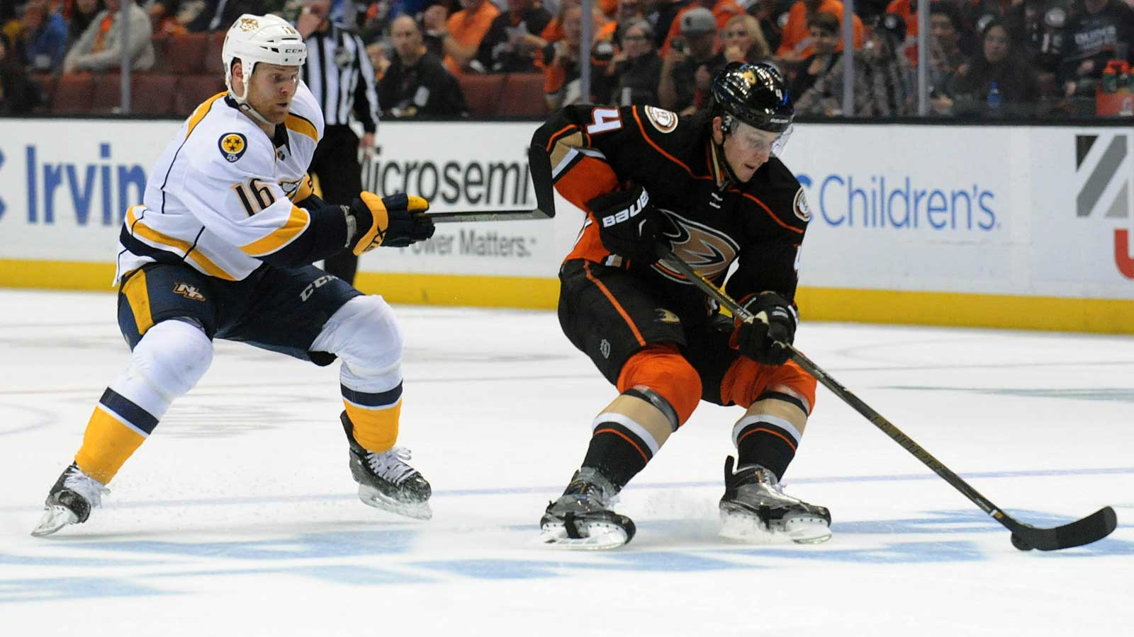Ducks down 2-0 after loss to Predators Sunday