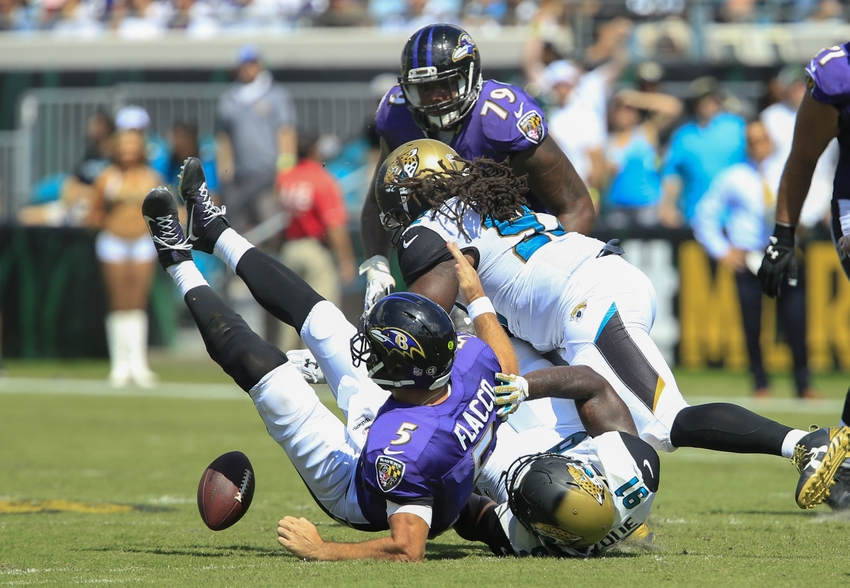 Yannick Ngakoue continues production, pulls even with Dante Fowler Jr.