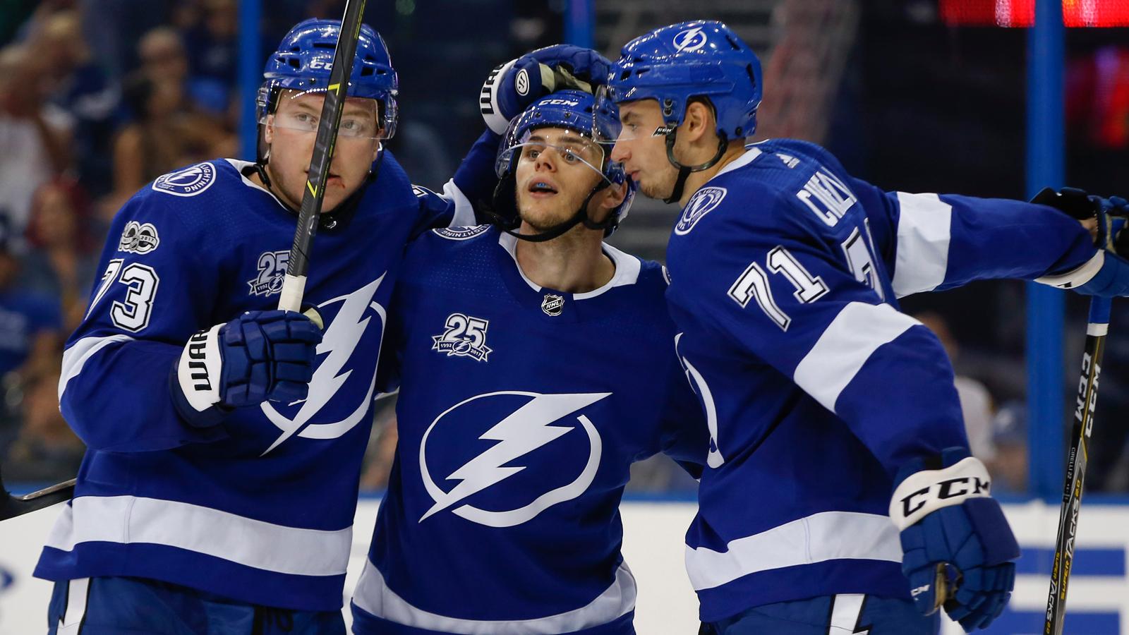 Adam Erne scores, Lightning drop preseason game to Hurricanes