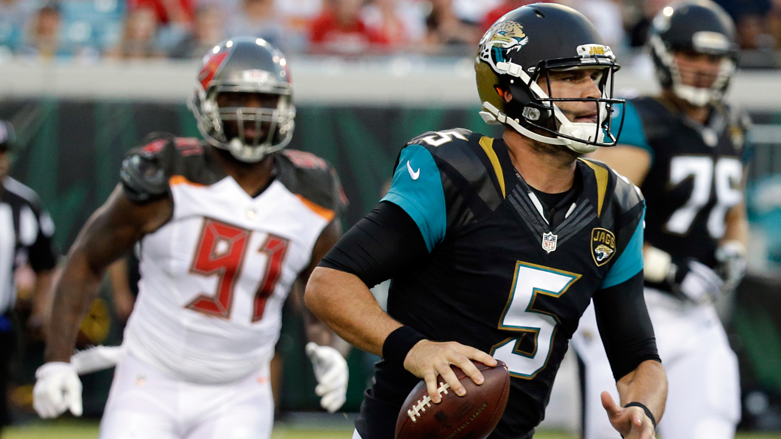 Blake Bortles tosses 2 TDs early but Buccaneers rally past Jaguars