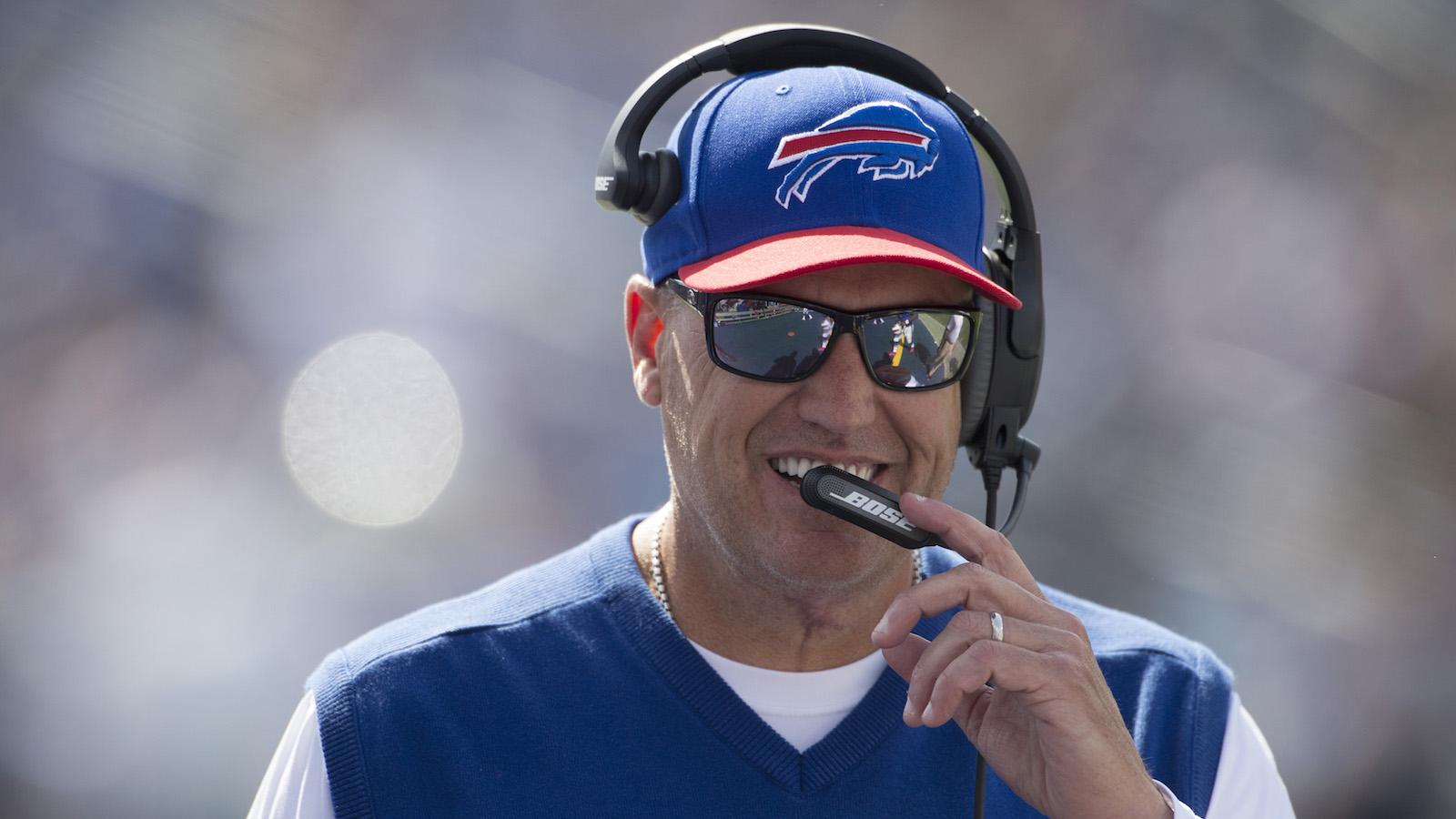 Rex Ryan tells bizarre story of Bills LB breaking his nose in walkthrough