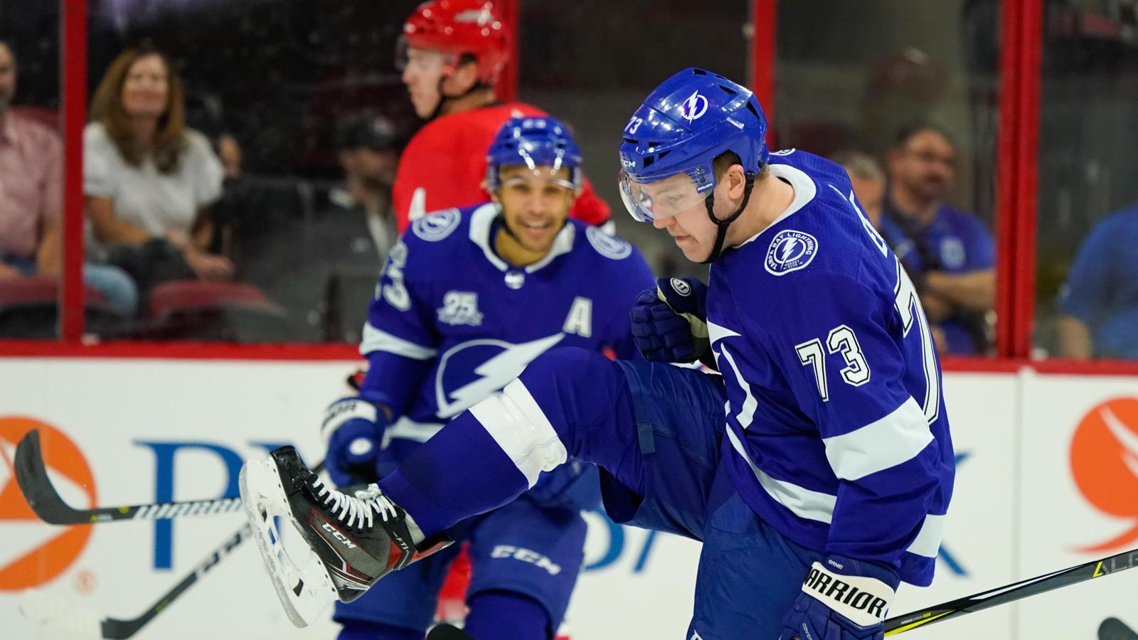 Adam Erne, Mikhail Sergachev lead Lightning past Hurricanes in preseason