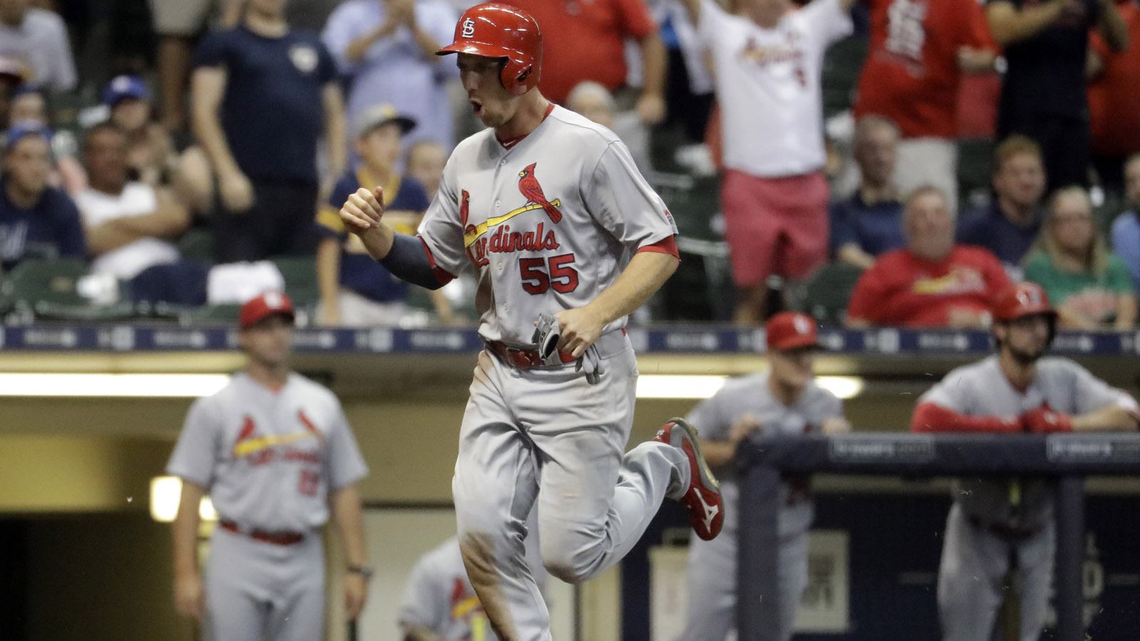 Cardinals come back in ninth, defeat Brewers 6-5