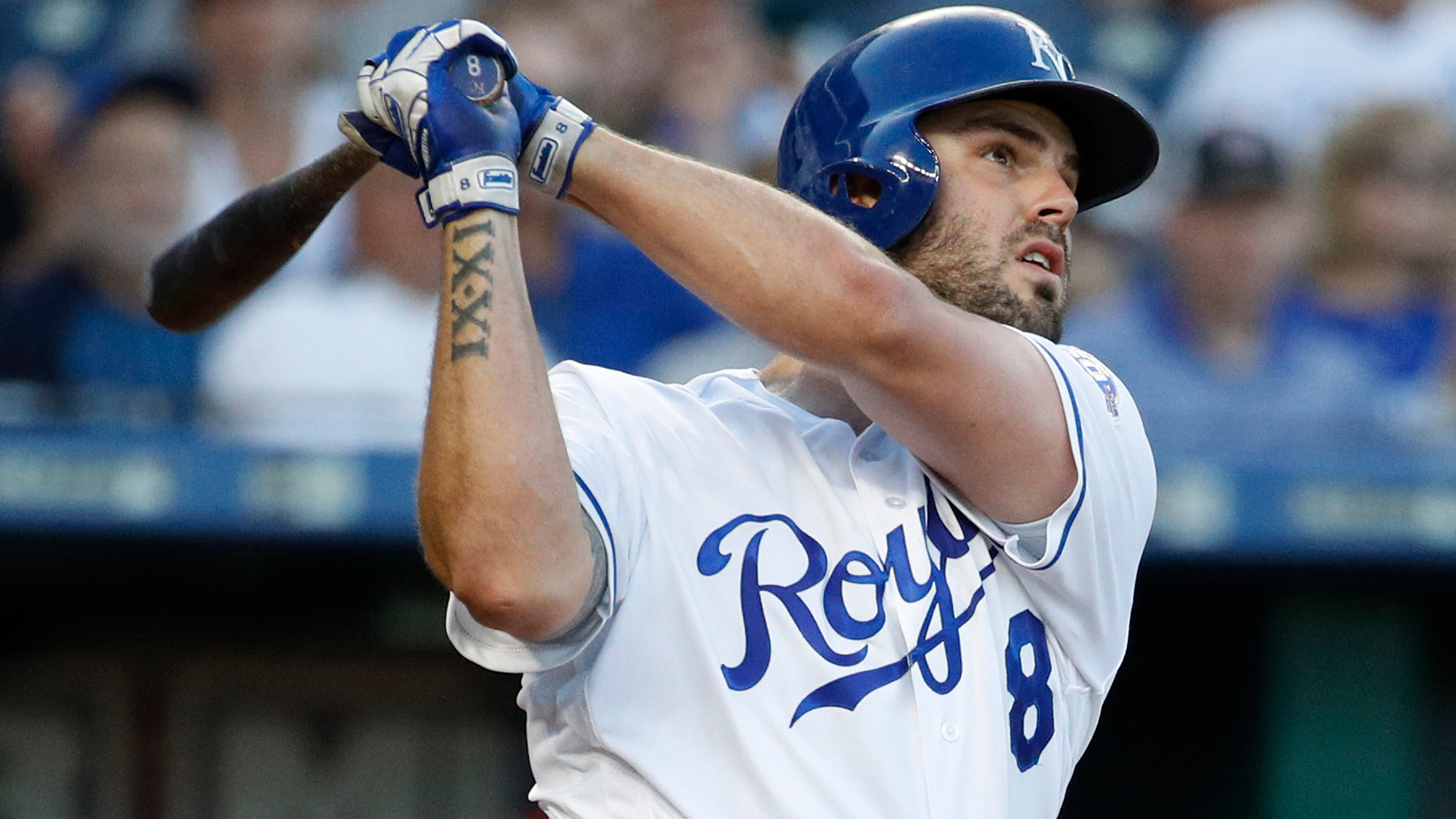 Royals deal Moustakas to the Brewers for two prospects
