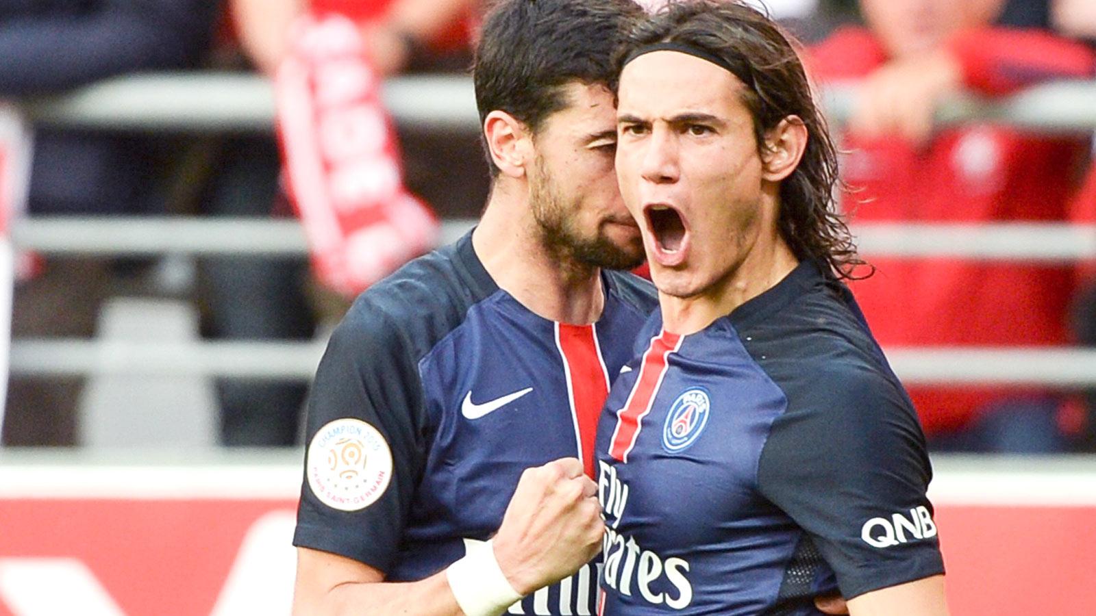 Paris Saint-Germain salvage draw at Reims with goal from Edinson Cavani
