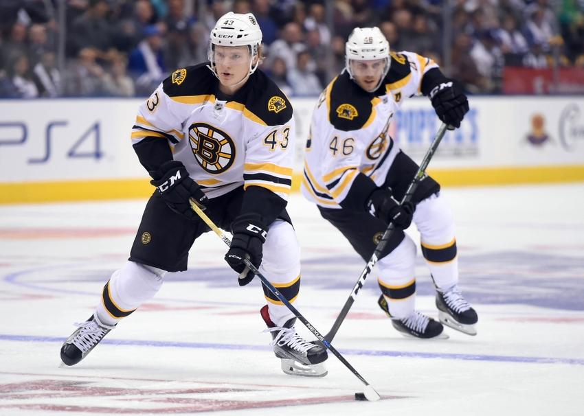 Boston Bruins Forward Danton Heinen Gets Another Shot