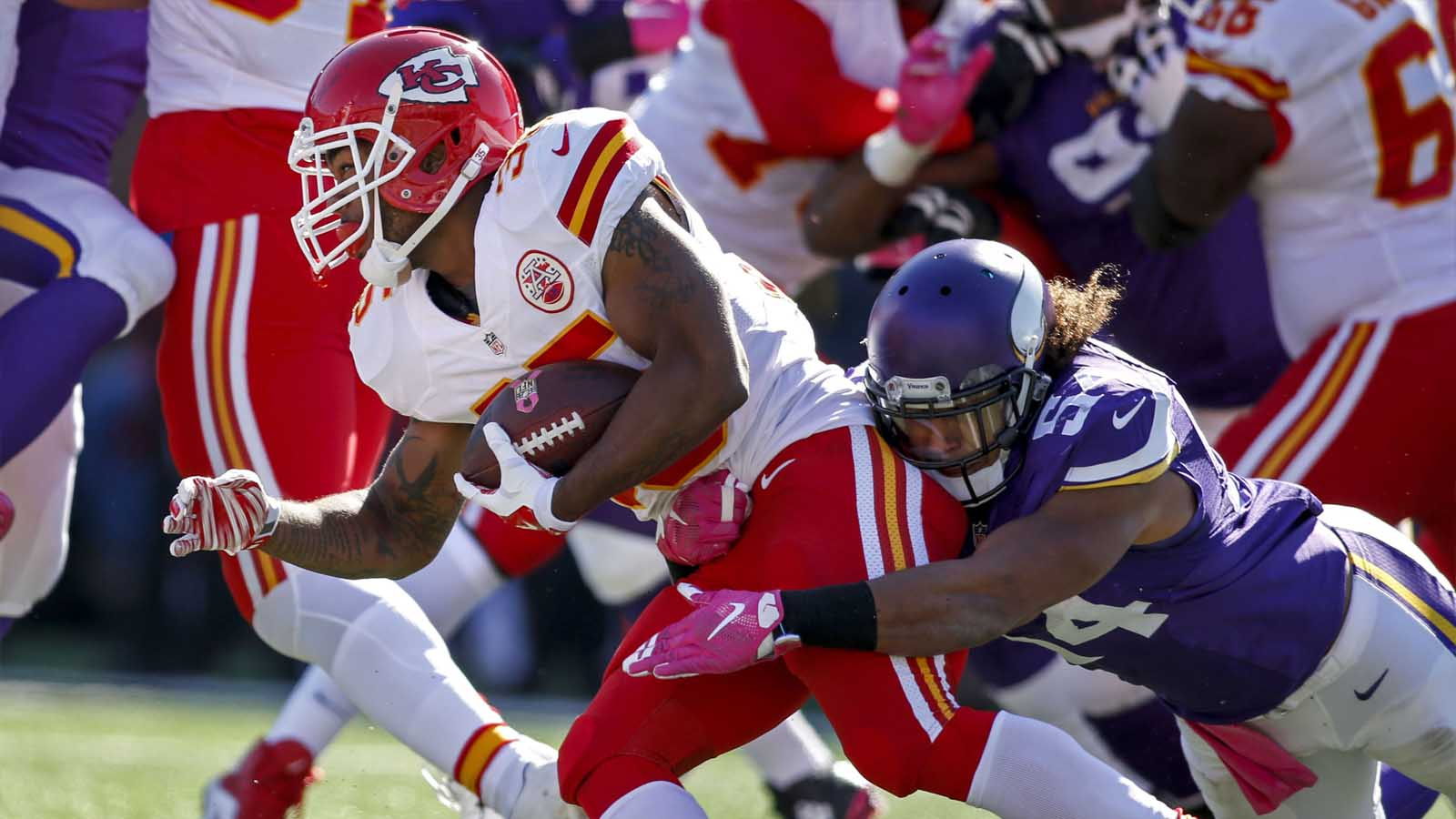 Chiefs' depth is being tested, especially at RB sans Charles