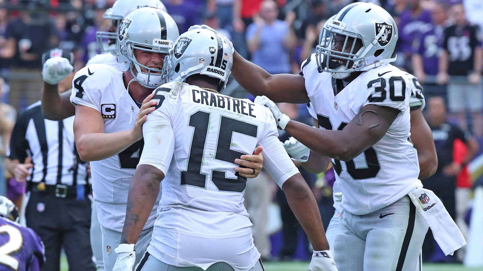 Crabtree emerging as Raiders' top target heading into Chargers matchup