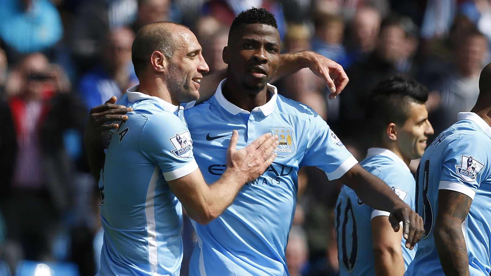 Manchester City steamroll Stoke to move up to third in EPL