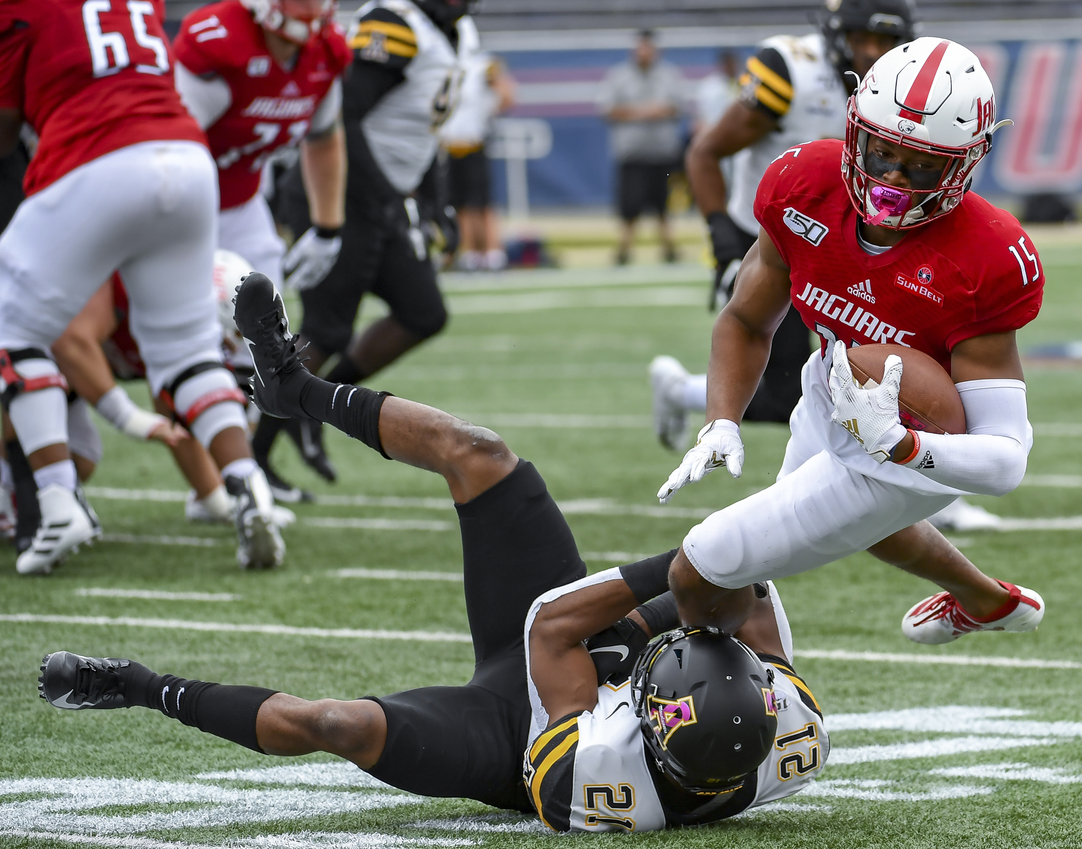 No. 21 Appalachian State routs South Alabama, 30-3