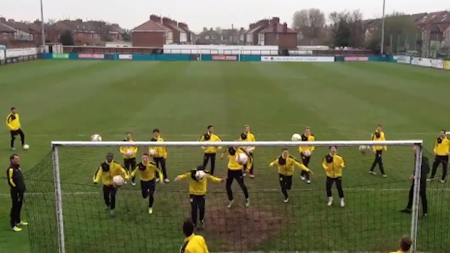 Watch Borussia Dortmund work on a bizarre drill ahead of their match vs Liverpool