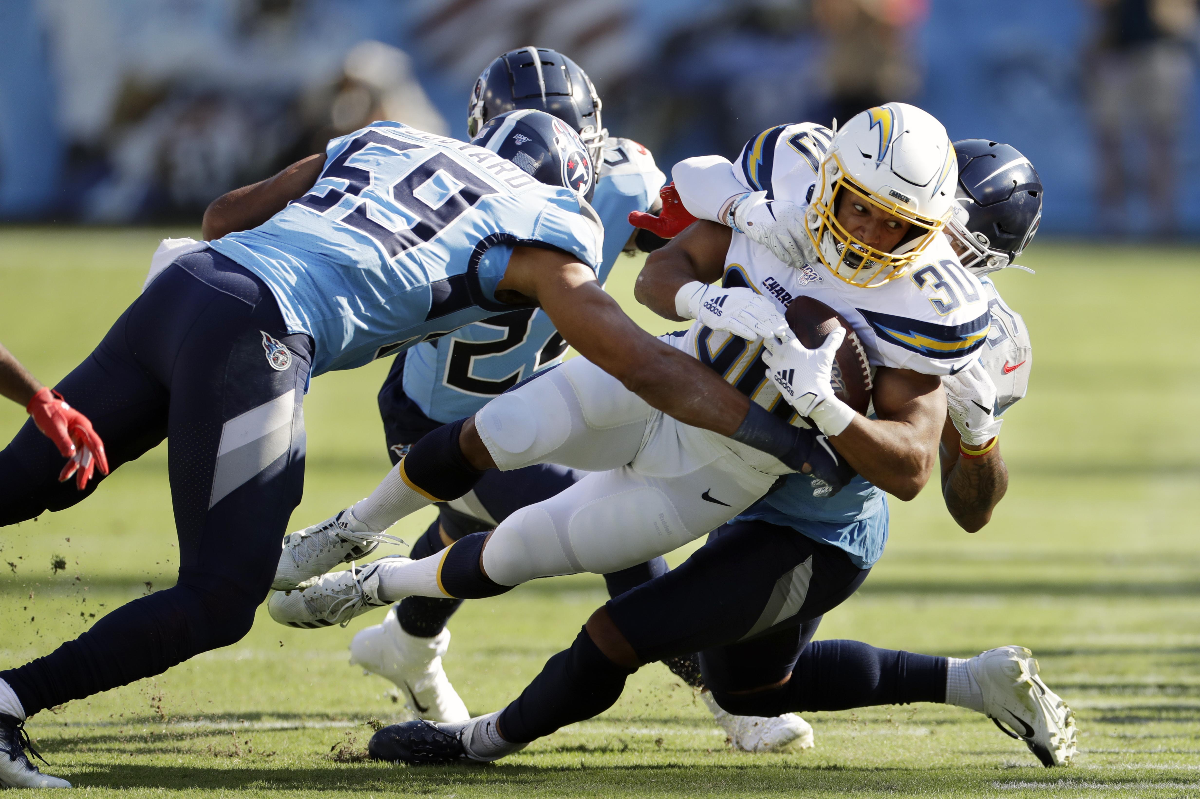 Bolts' versatile Ekeler is bright spot for dismal offense