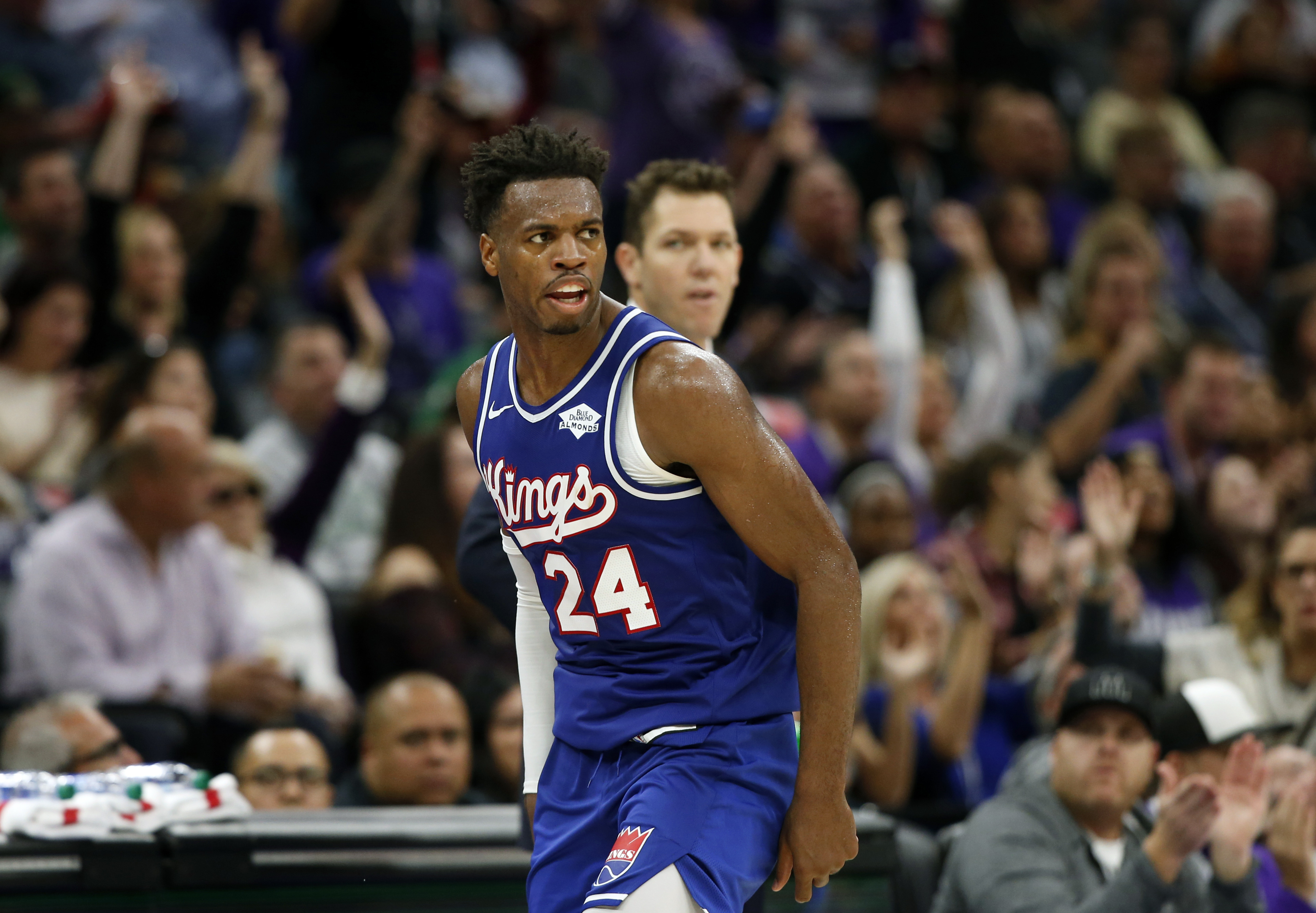 Hield fined $25,000 by NBA for kicking ball into stands