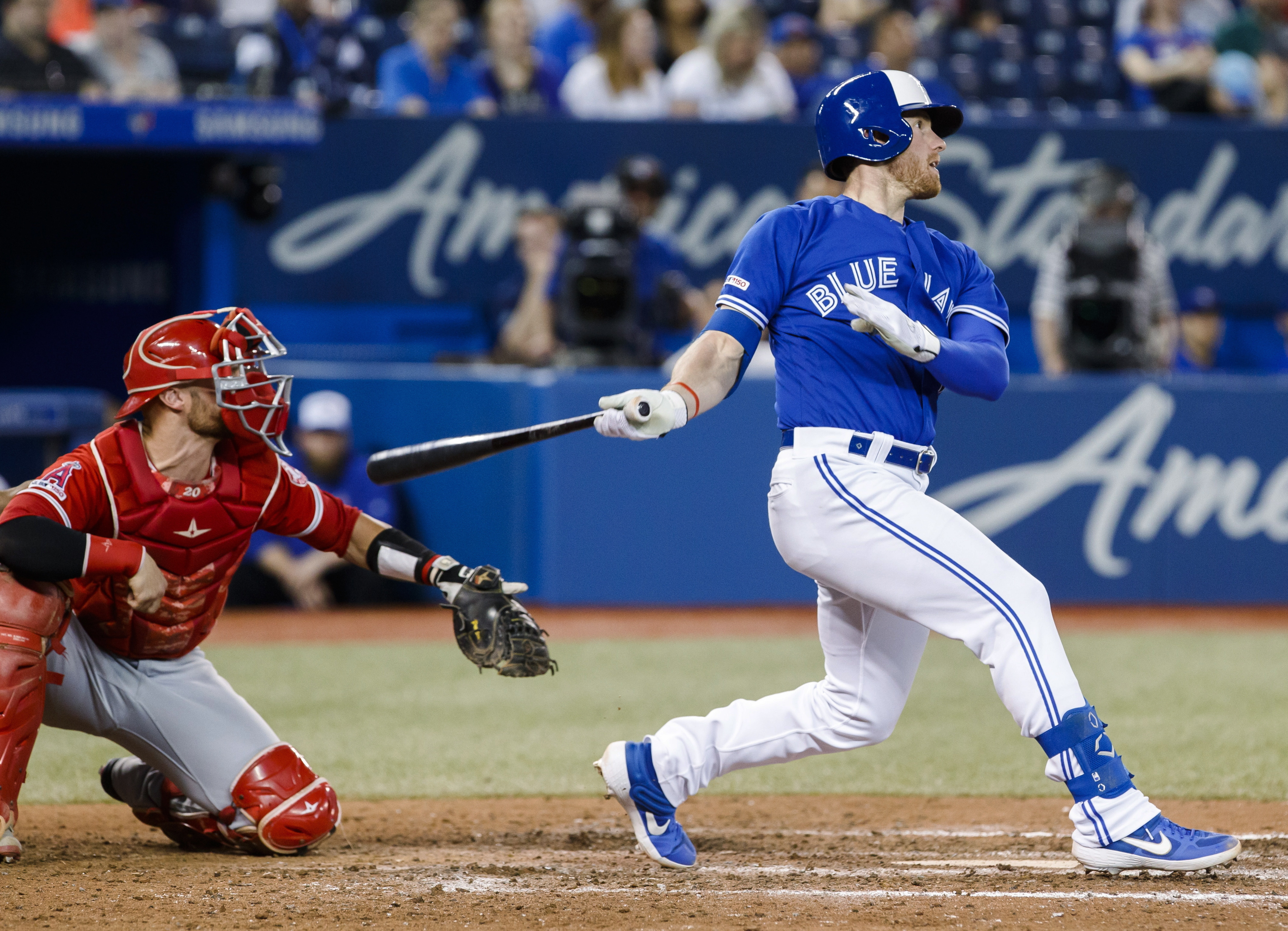 McKinney's HR in 10th gives Blue Jays 7-5 win over Angels