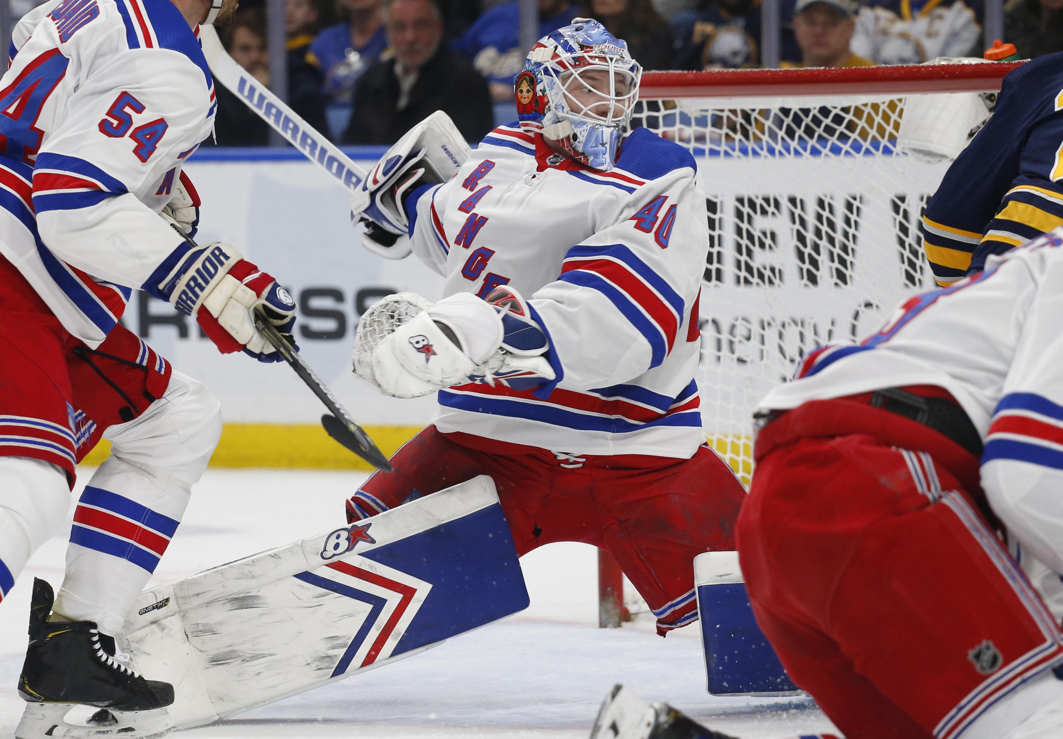 Georgiev stops 31 in Rangers' 6-2 win over Sabres