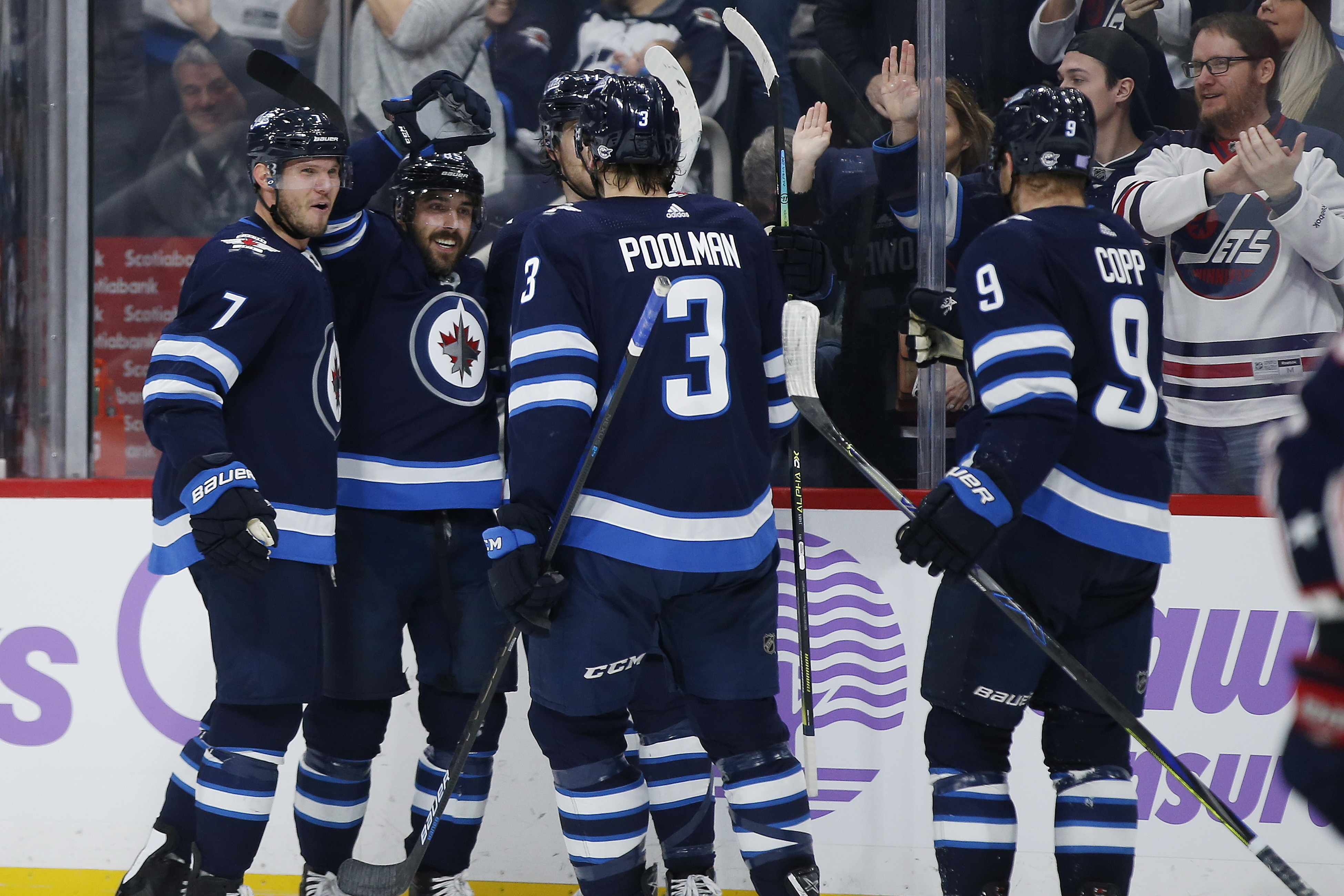 Copp's late goal lifts Jets to 4-3 win over Blue Jackets