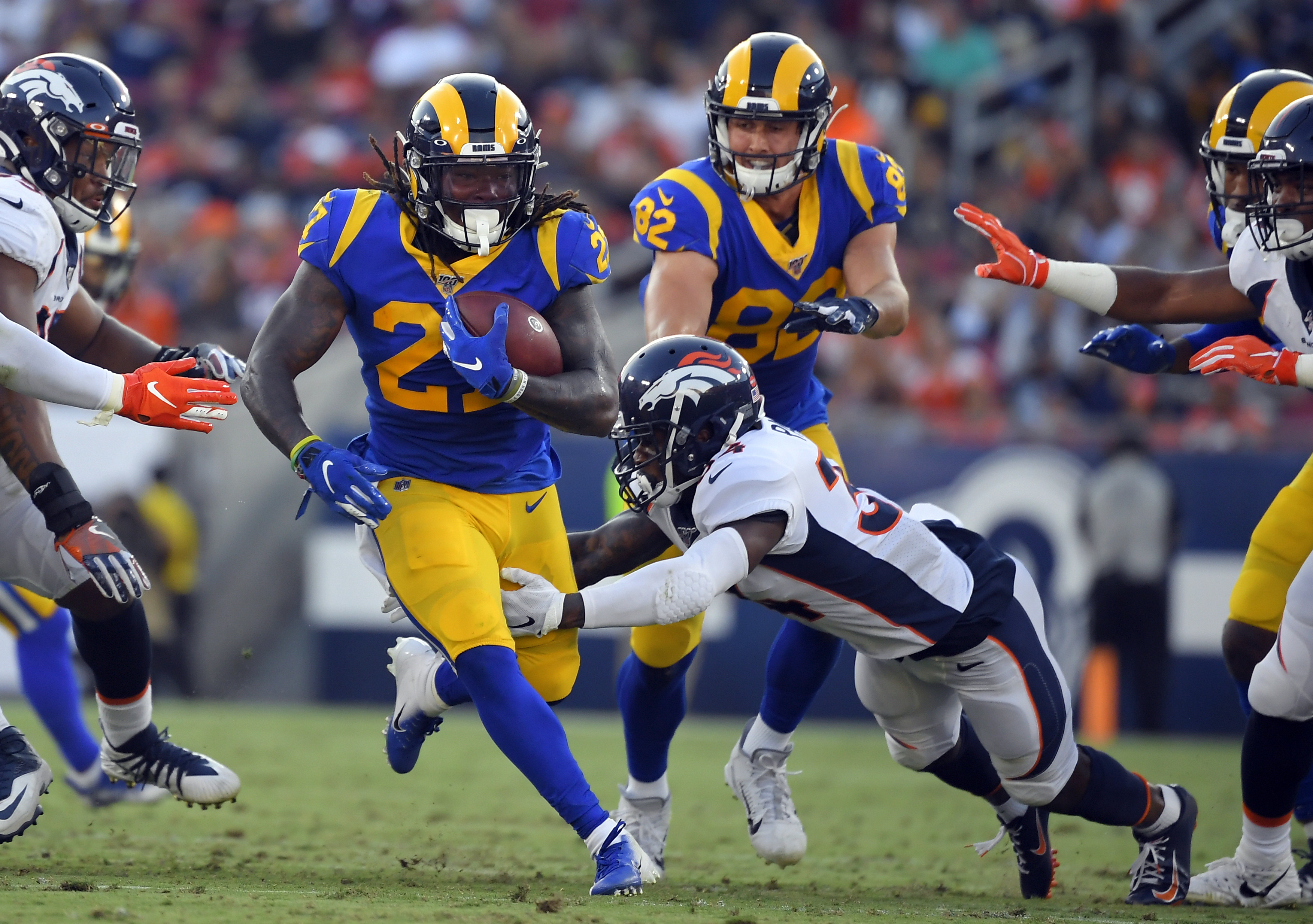 Wolford hits Greene for TD in Rams' 10-6 win over Broncos