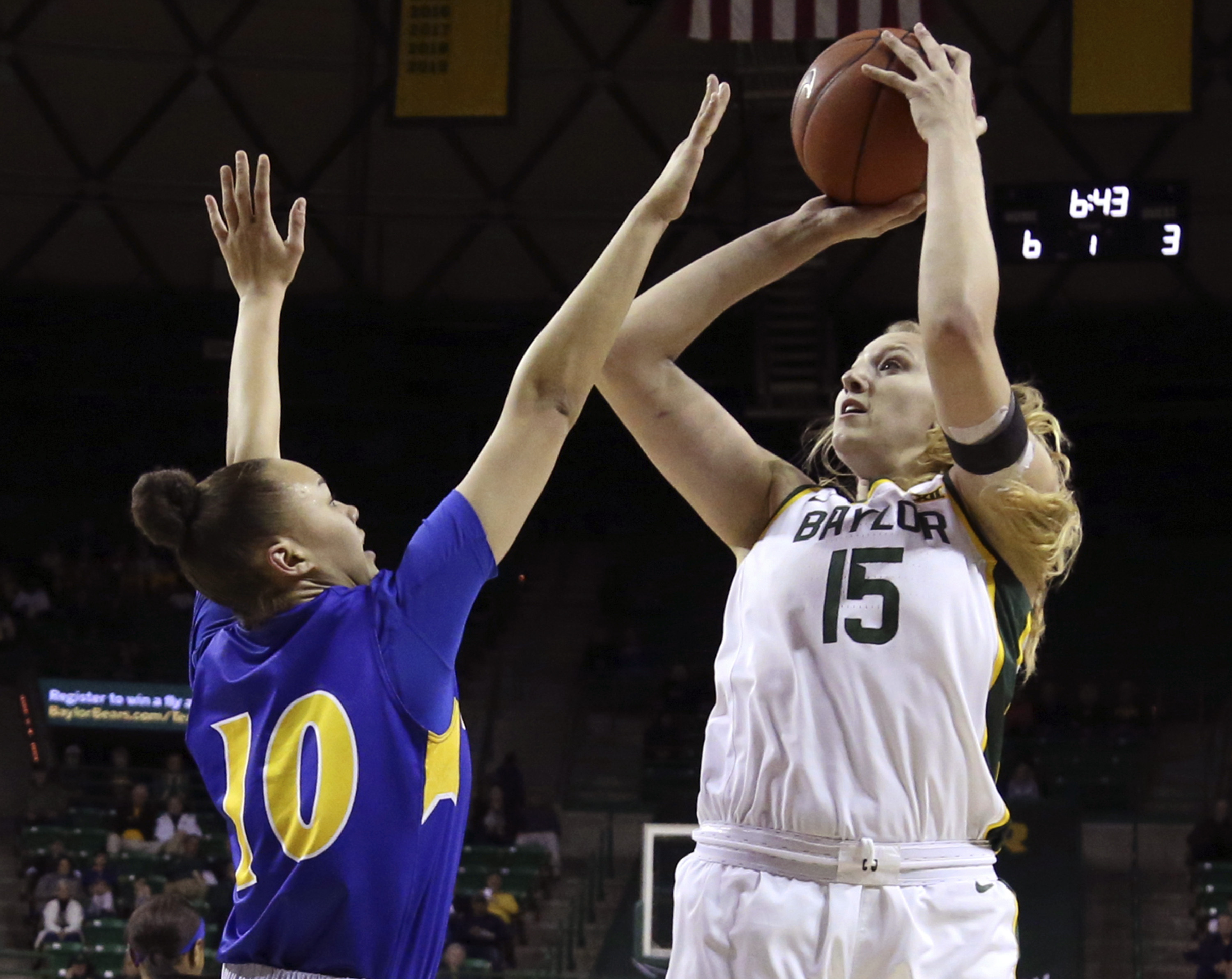 Cox back for No. 6 Baylor women in 94-47 win over Morehead