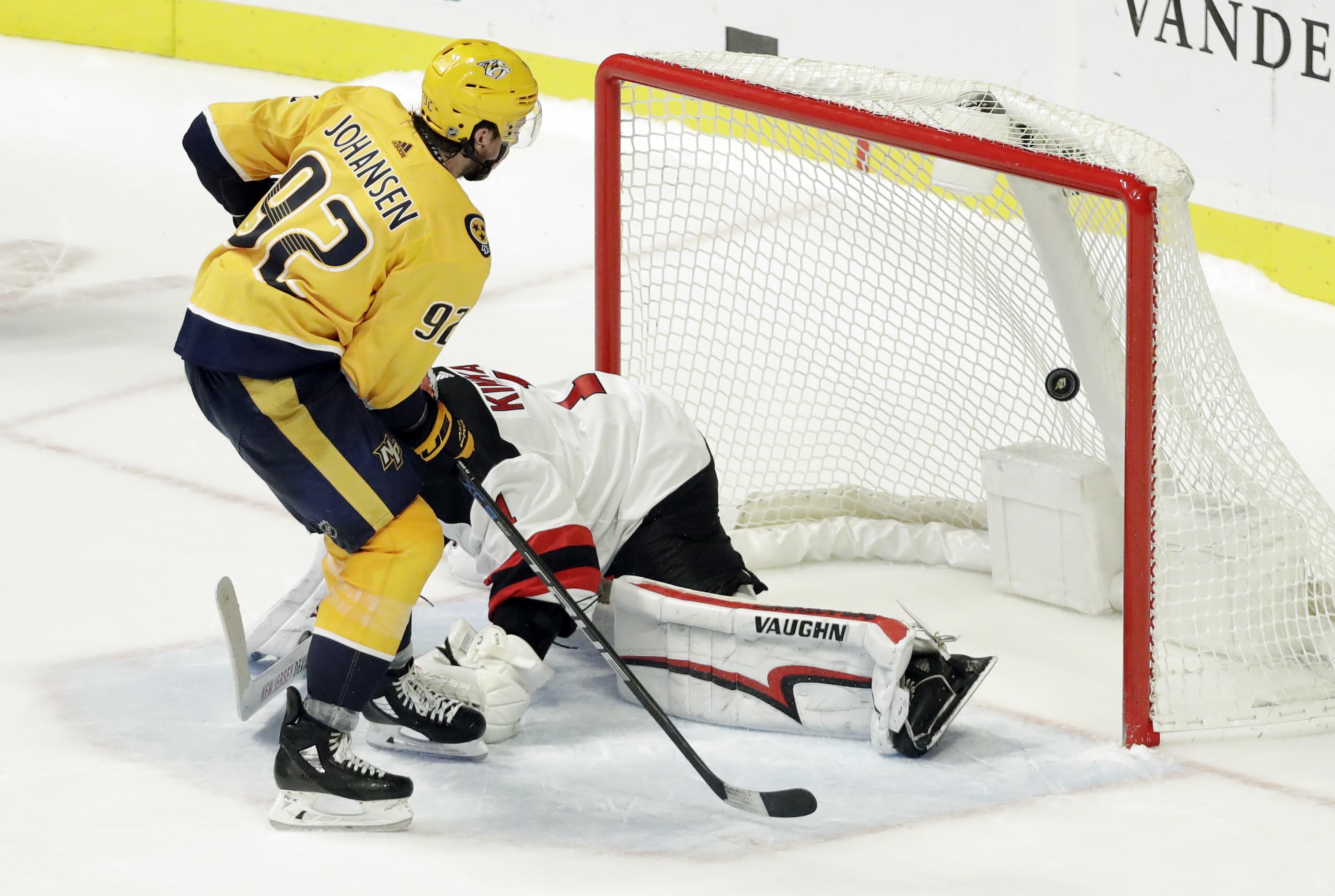 Johansen gets shootout winner, Predators beat Devils 2-1