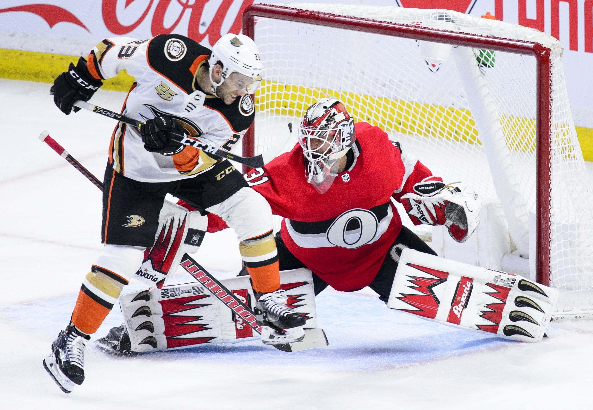 Nilsson stops 45 shots, Senators beat Ducks 4-0