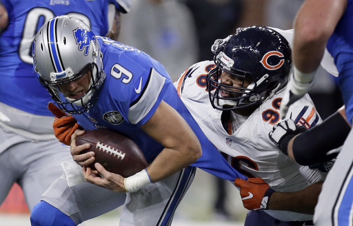 Stafford runs for go-ahead TD in Lions' 20-17 win over Bears (Dec 11, 2016)