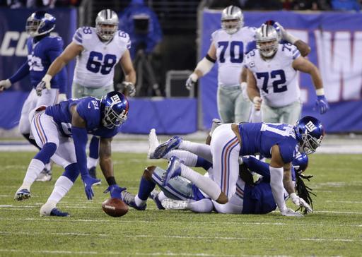 Giants snap Cowboys' 11-game winning streak 10-7 (Dec 11, 2016)