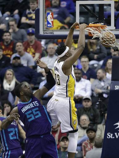George, Turner score 22 to lead Pacers over Hornets, 110-94 (Dec 12, 2016)