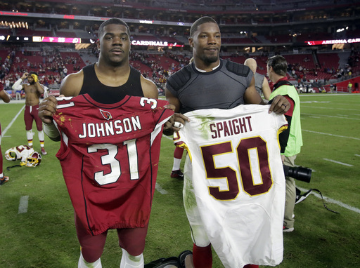 Redskins LB Spaight readies for 1st NFL start vs. Panthers