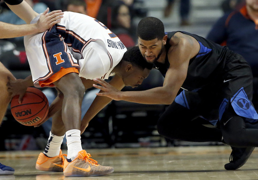 Abrams scores 15 to lead Illinois in 75-73 win over BYU (Dec 17, 2016)