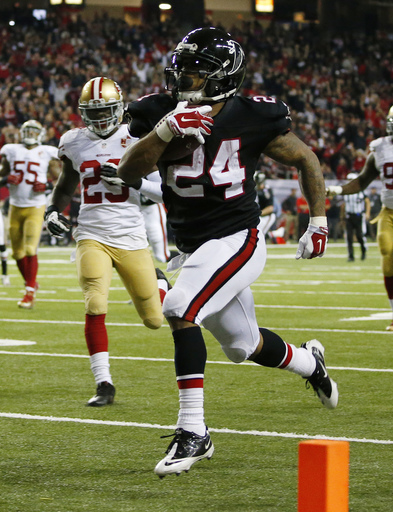 Freeman's 3 TDs lead Falcons to 41-13 rout of hapless 49ers (Dec 18, 2016)