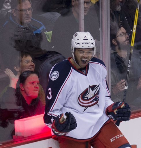 Jones leads Blue Jackets past Canucks in OT for 9th in a row (Dec 18, 2016)