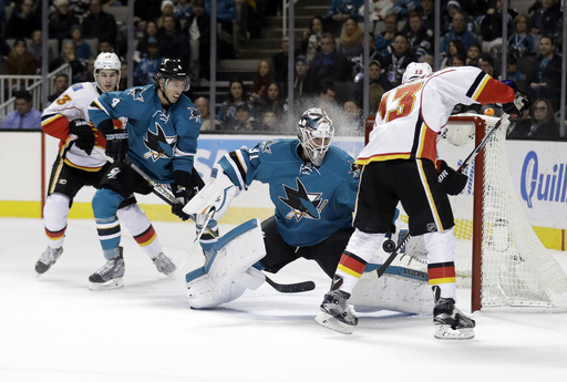 Donskoi has first multi-goal game, Sharks beat Flames 4-1 (Dec 20, 2016)