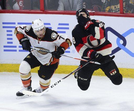 Mike Hoffman scores PP goal in OT, Senators edge Ducks 2-1 (Dec 22, 2016)