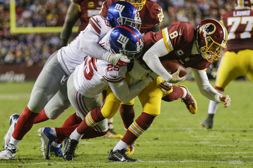 Giants' D preps for playoffs with 19-10 win at Redskins
