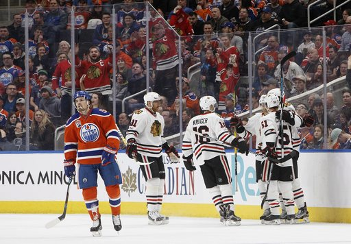 Panik scores twice and Blackhawks roll over Oilers 5-1 (Feb 11, 2017)