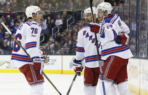 Jimmy Vesey, Antti Raanta lead Rangers past Blue Jackets 3-2 (Feb 13, 2017)