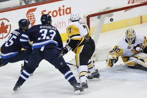 Nick Bonino has hat trick, Penguins top Jets 7-4 (Mar 08, 2017)